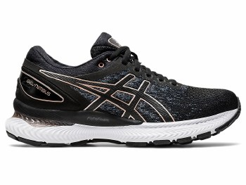 Asics Gel Nimbus 22 Knit Ladies (Black Gold) 6.5