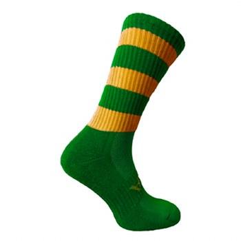Atak Shox Mid Lenght Socks (Green Amber) 10-2 Uk