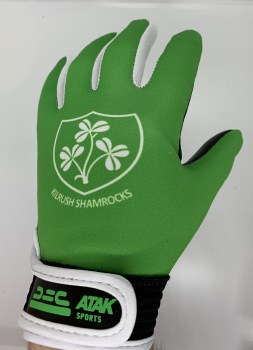 Atak Kilrush Shamrocks Crested Gaelic Gloves (Green) 5-6