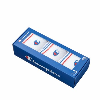 Champion Crew Socks 3 Pack Boxed (White) Uk 3-5 Uk