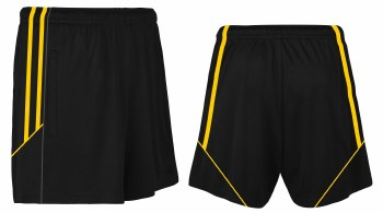 CS Club Training Zip Pocket Short (Black Amber) 5-6