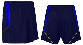CS Club Training Zip Pocket Short (Navy Royal Amber) 2XL