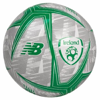 New Balance Ireland FAI Lifestyle Dash Football 2019-2020 (Grey Green) Size 5