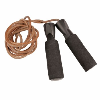 Fitness Mad Leather Weighted Skipping Rope 3m