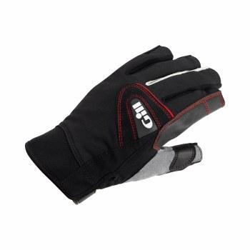 Gill Championship Short Finger Saing Gloves (Black Grey Red) Medium