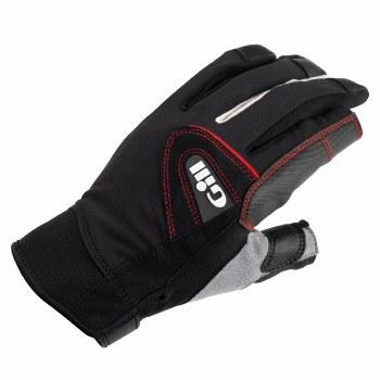 Gill Championship Long Finger Saing Gloves (Black Grey Red) Medium