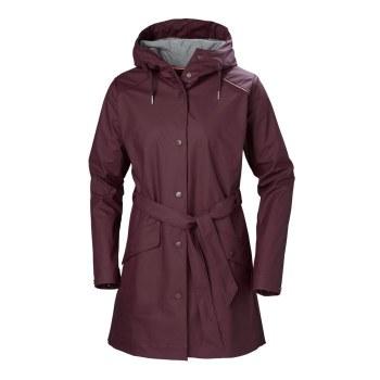 Helly Hansen W Kirkwall Rain Coat Purple Large