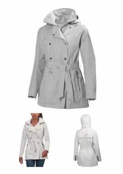 Helly Hansen Ladies Wesley Trench Coat (Ash) XS