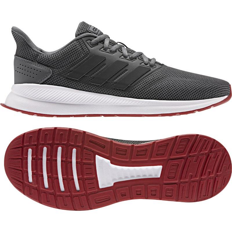 Adidas Run Falcon (Grey White Red) 9.5