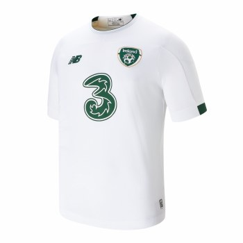 New Balance Ireland FAI Away Jersey 2019-2020 (White Green) Small