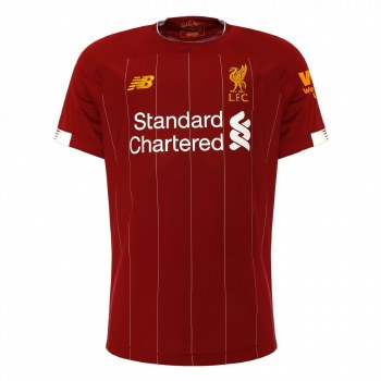 New Balance Liverpool Home Short Sleeve Kids Jersey 2019/2020 (Red) LB