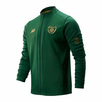 New Balance Ireland FAI Game Jacket Adults (Eden Green Gold) Medium