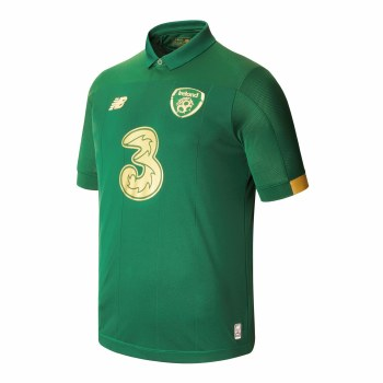 New Balance Ireland FAI Home Jersey Adults Short Sleeve 2019/2020 (Eden Green Gold) Medium