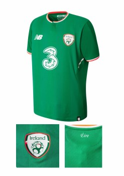 New Balance Ireland Home Jersey Adults 17/18 (Green) Small