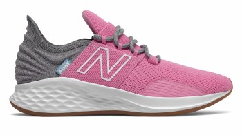 New Balance Fresh Foam Roav Kids (Pink Grey White) 4