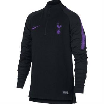 Nike Tottenham Hotspurs Kids Squad 1/2 Zip 18/19 (Black/Purple) XLB
