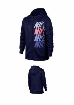 Nike Girls Therma Hoodie FZ GX  (Navy/Pink/Purple) XSB