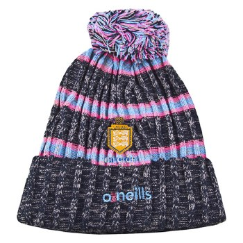 O'Neills Clare Ladies Solar Bobble Hat (Navy Pink Blue) Ladies