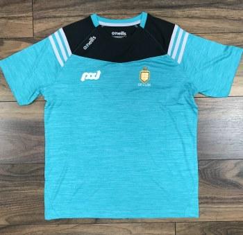 O'Neills Clare GAA Colorado Tee Shirt Medium (Melange Blue)