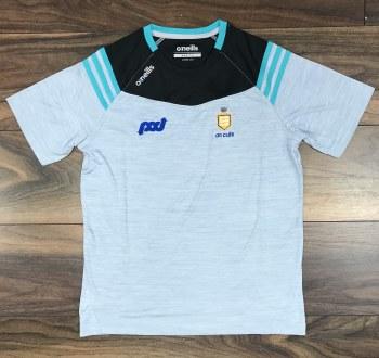 O'Neills Clare GAA Colorado Tee Shirt M (Melange Silver Blue)