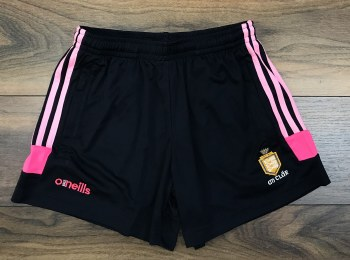 O'Neills Clare GAA Colorado Ladies Poly Shorts (Navy Pink) 16