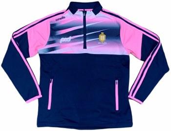 O'Neills Clare Ladies Portland Half Zip (Navy Pink White) Size 12