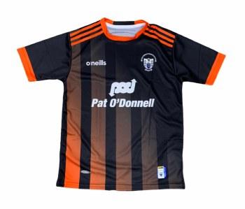 O'Neills Clare Training Jersey 2020 (Black Orange) Large