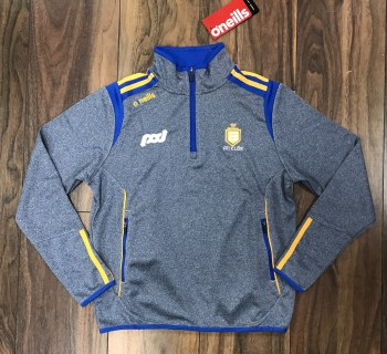 O'Neills Clare Solar 30 Squad 1/2 Zip Top (Navy Marl Royal Amber) Age 9-10
