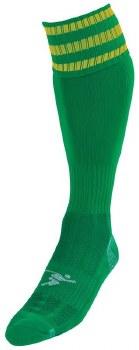 Precision Pro Football Sock (Green Amber) Uk Size Boys 3-6
