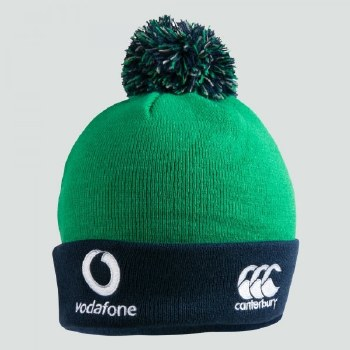 Canterbury Ireland Bobble Hat 2019-20 (Green Navy) Adults
