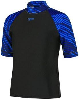 Speedo Boom Boys Rash Vest (Black Blue) Age 14