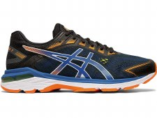 Asics GT2000 7 Mens (Black Blue Orange) 10.5