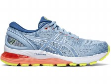 Asics Gel Nimbus 21 Ladies (Sky Coral Yellow) 6