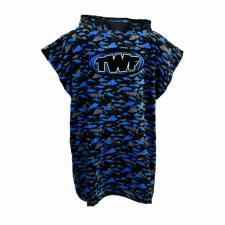 TWF Towel Poncho Kids (Black Blue Grey) One Size