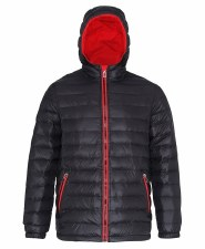 2786 Padded Jacket (Black Red) XS