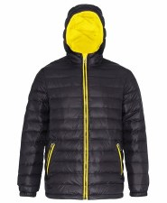 2786 Padded Jacket (Black Yellow) XS