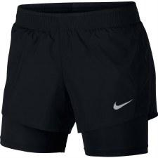 Nike Womens 10k 2 in 1 Shorts (Black) L