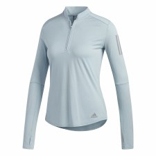 Adidas Own The Run 1/2 Zip Womens (Clear Mint) M