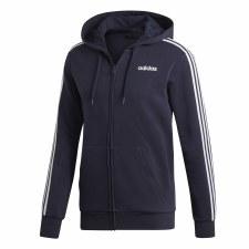 Adidas 3 Stripe Essential Hoodie (Navy White) M