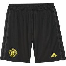 Adidas MUFC Training Shorts Kids 2019/2020 (Black Yellow) Age 13-14