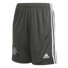 Adidas Man Utd Away Shorts Junior 2020/21 (Grey White)