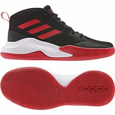 Adidas Own The Game Basketball Shoes Kids (Black Red White) 3
