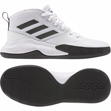 Adidas Own The Game Basketball Shoes Kids Wide Fit (White Black) 6