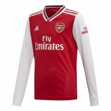 Adidas Arsenal Kids Home Long Sleeve Jersey 2019-2020 (Red White) 7-8