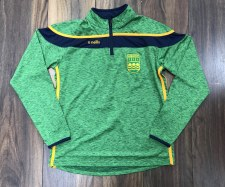 O'Neills Hurling Club Slaney 1/2 Zip (Melange Green/Navy/Amber) Age 5-6