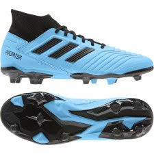 Adidas Prdeator 19.3 Firm Ground Football Boots (Cyan Blue Black) 9