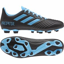 Adidas Prdeator 19.4 Firm Ground Football Boots (Black Blue) 6.5