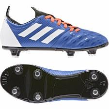 Adidas Malice Junior Rugby Boot Soft Ground (Blue White Orange) 1