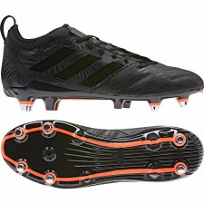 Adidas Malice Elite Rugby Soft Ground Boots (Black Orange) 8