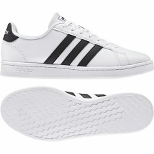 Adidas Grand Court Mens (White Black) 8